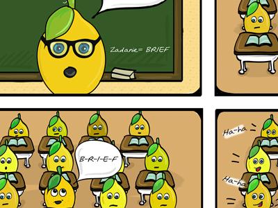 Crazy lemon and brief