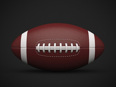 American football ball icon 3d sport rugby ball football sports
