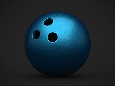 Bowling ball football sports ball rugby sport 3d icon