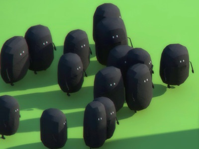 99 frames // The ride (early characters) 3d character 99frames animation cg frame