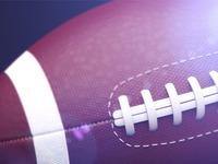 American football ball (light test)