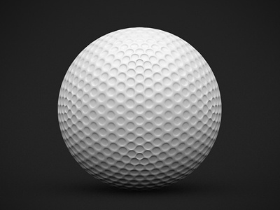 Golf ball ball icon sports golf 3d