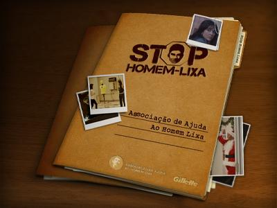 Gillette // Stop Homem Lixa III gillette stop icon ad undercover case