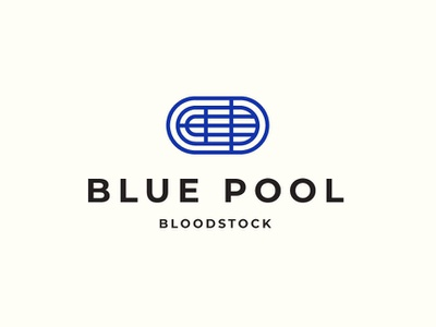 Blue Pool Bloodstock blue monoline branding logo race track racing horse lineage pedigree horse racing horses bloodstock