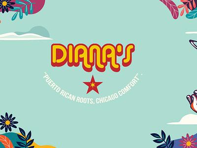 Diana's brand design vector logo typography illustration branding design