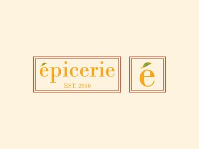 Épicerie branding logo groceries dribbleweeklywarmup brand design