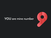 You are mine Number9 mathematics learning ai 9 nine number love