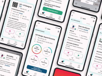Uplift App: A Modern Apprenticeship Finder branding design app ux ui