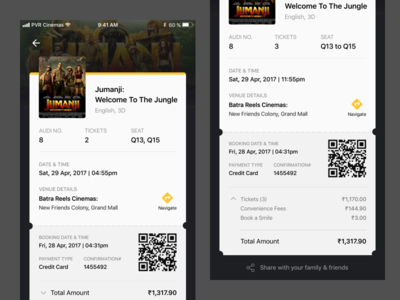 PVR : Movie Ticket Concept