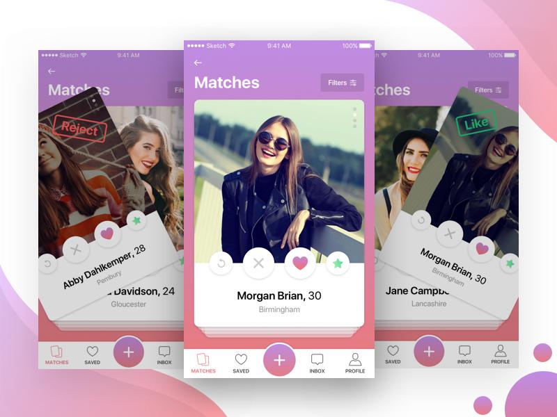 swipe match chat dating app