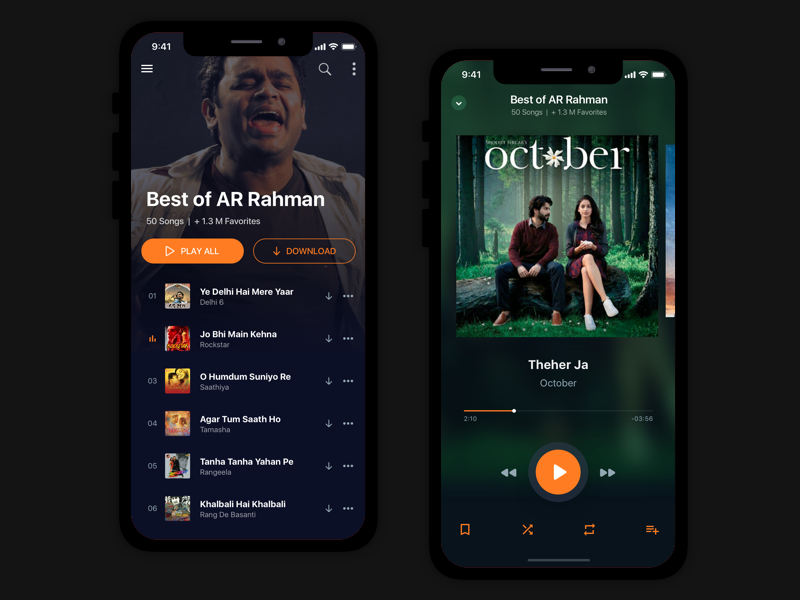 Music App Concept : Bollywood Songs & Radio radio music interface experience user app android ios mobile design ux ui