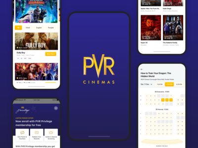 PVR Cinemas : iOS App Redesign Concept
