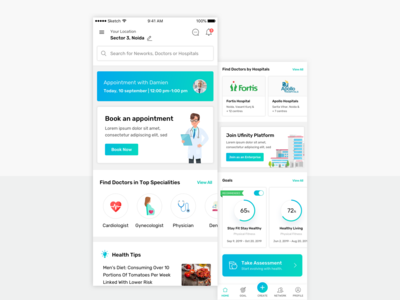 Medical App - A daily activity combo clinical app