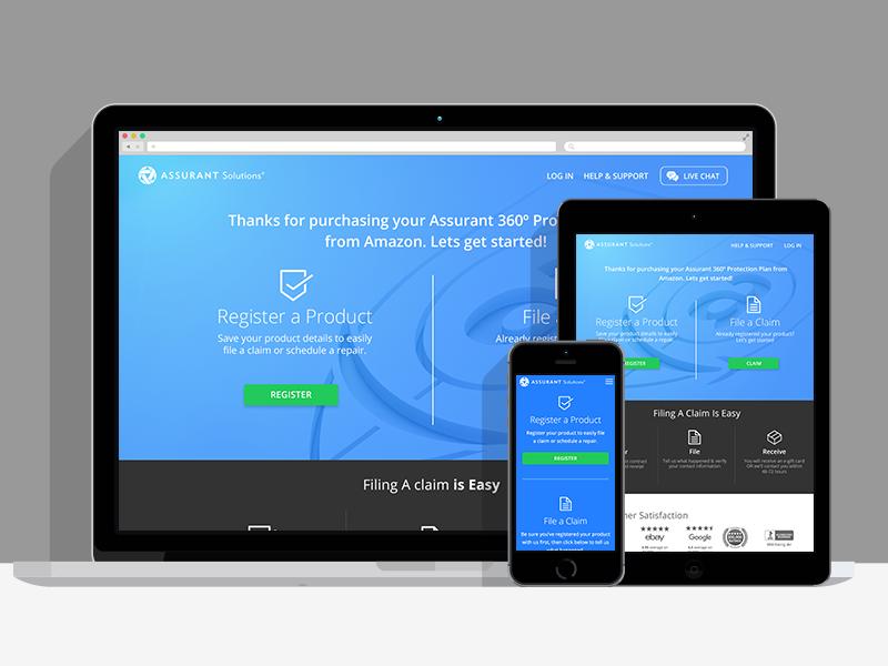 Responsive Amazon protection reg portal web design white label responsive amazon