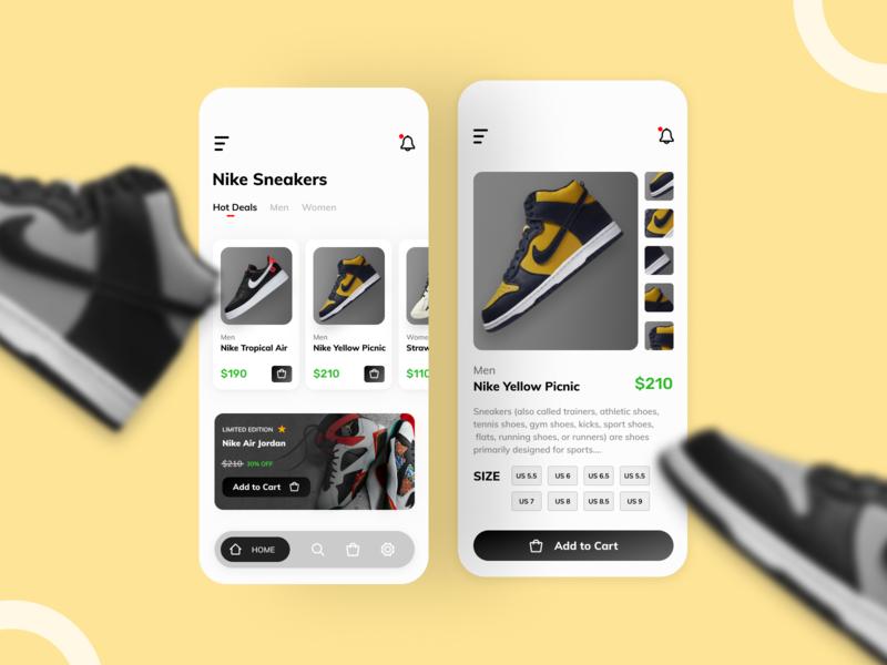 Nike App Design minimal design app uidesign ui