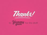 Thank you yummygum!