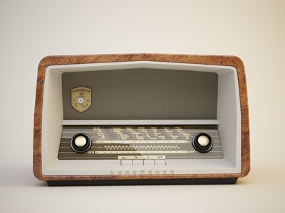 Nordmende Vintage Radio by Ray Faustino - Dribbble