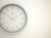 junghans max bill clock by ray faustino dribbble. Black Bedroom Furniture Sets. Home Design Ideas