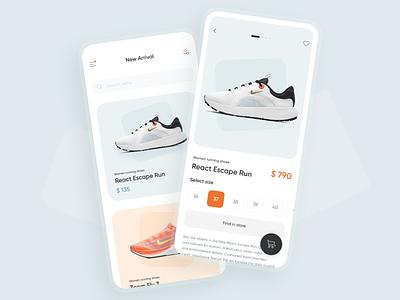 Sneakers store UI concept ecommerce shop ecommerce sport nike concept sneakers shoes mobile ui app ui ux ui