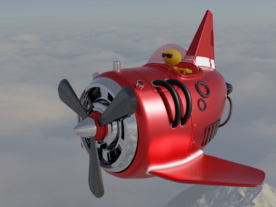 Blender Toy Airplane blender3d blender3d b3d