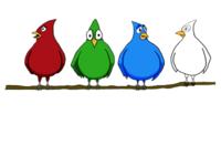 RGBa Birds (Basic Coloring)