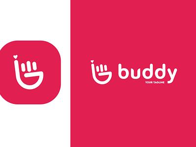 buddy Logo Apps startup logo logomarks logomark brand design brand identity flatdesign startup apps design vector logos logo design logodesign logo illustration icon flat design brandmark branding