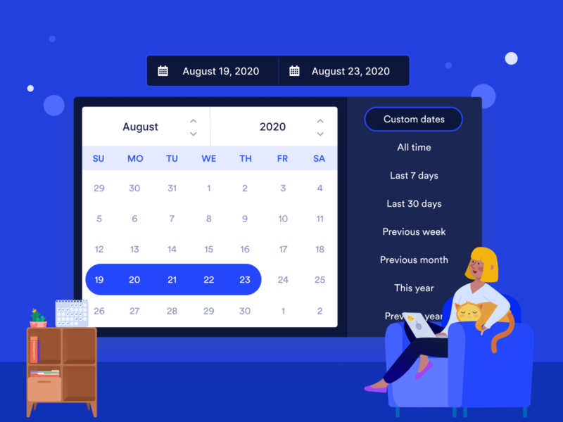Custom date picker year yearly monthly weekly calendar component date component modal component dates between dates date selector calendar datepicker date range date picker
