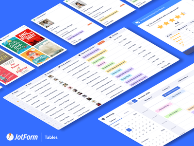 Coming Soon! - JotForm Tables meeting calendar events chart reports tools collection multiple select data database spreadsheet gird jotform tables