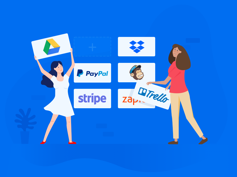Build your workflow. blog integrate enterprise mailchimp drive google paypal zapier trello dropbox stripe apps workflow integration