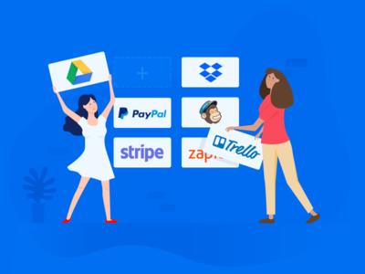 Build your workflow. blog integrate enterprise mailchimp drive google paypal zapier trello dropbox stripe apps workflow integration
