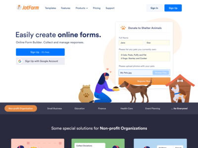 Landing Page / Donation