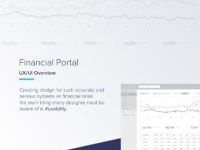 Financial portal case