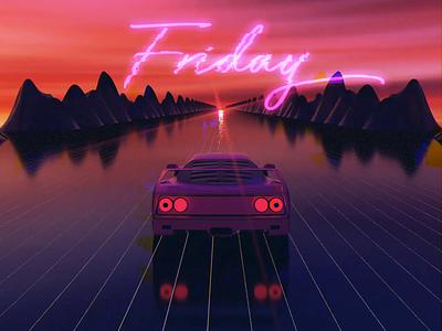 Happy Friday! octanerender 3dsmax 3d vaporwave vapor retrowave friday aftereffects animation cinema4d