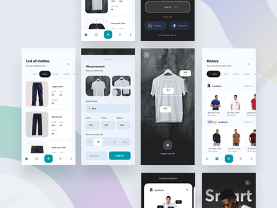 Smart Try App amazon myntra ux fashion cloth ecommerce smart try 3d motion graphics graphic design illustration ui logo design delivery cuberto concept branding app animation