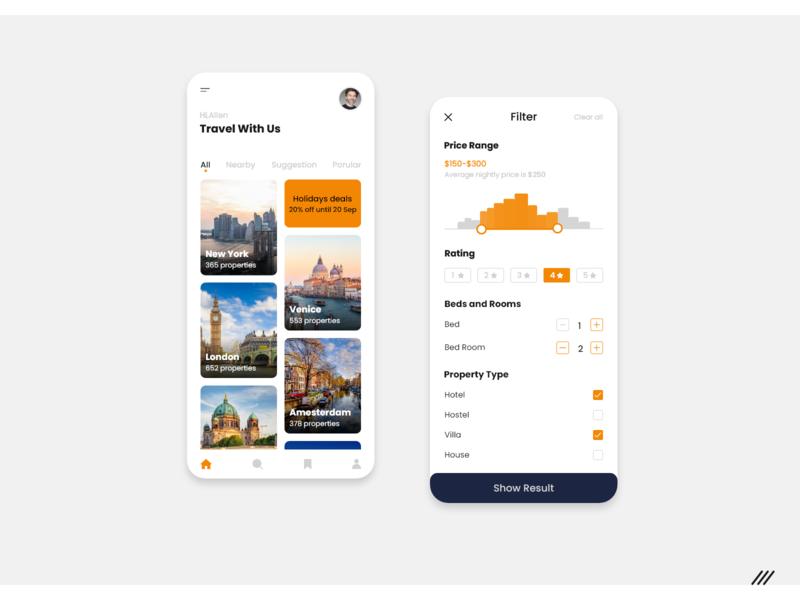 Villa Booking App ux design ui