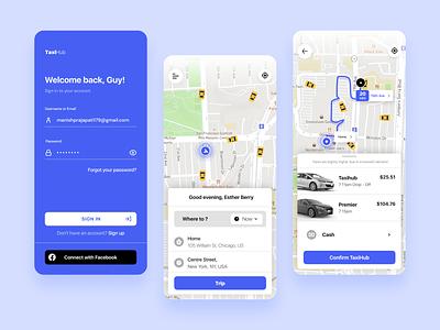 car booking app app login sign in login screen figma design taxi booking app mobile ui design mobile design taxi app car booking app car booking