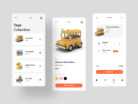 Toys Shop App add to cart cart page figma uiux mobile design mobile apps mobile ui ecommerce shop ecommerce app ios app design mobile app design store app toys