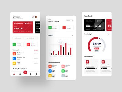 Bank App ux design uidesign uiux mobile app design mobile ui themed bank app