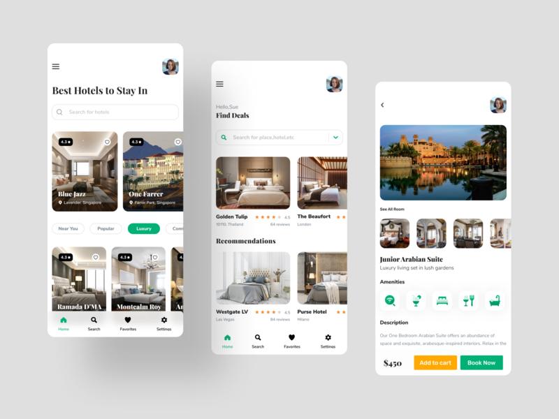 Hotel booking travel app figmadesign ux design minimalist interface design mobile app design ios app design room booking uidesign uiux