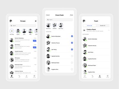 Messaging app messenger message app messaging interaction design mobile app design ui design ui  ux minimal video call group chat chat app messaging app