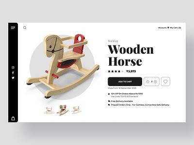 Wooden toy Shop ui design minimal interface design clean ui website product page design website design wooden toys