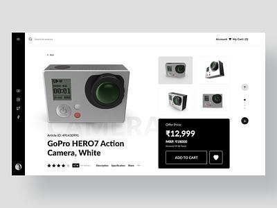 Web Design UI Kit Product Page Template - Action Camera web page design clean ui interface design interaction design camera ecommerce website design ui kit web design hero banner