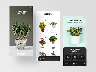 Plants Store App cart ui figmadesign ui design ios app ui ios app design plant store app plant app