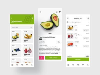 Grocery Store App ios app design food app design food delivery grocery app grocery delivery grocery online