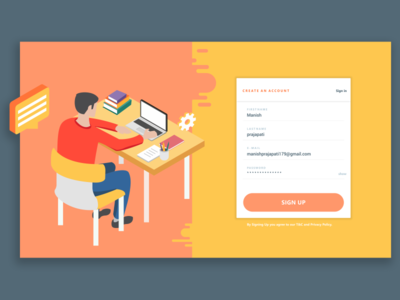 Login & Register Screen web for application