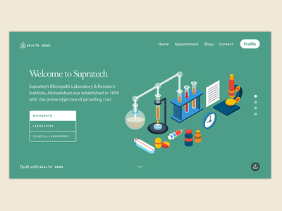 Laboratory ( MediClinic) Webdesign