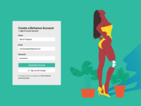 Login & Signup Behance Page Concept