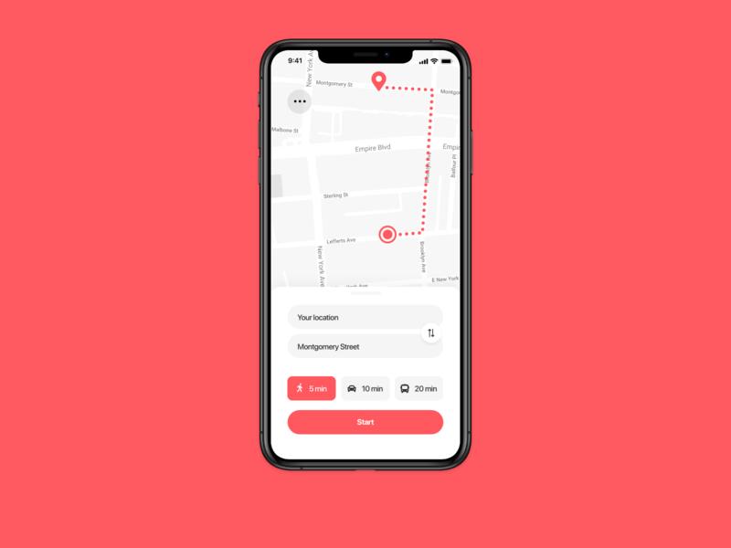 Daily UI Challenge : 020 Location tracker location tracker dailyui adobexd ui