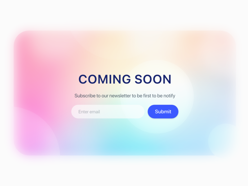 Daily UI Challenge : 048 Coming Soon comingsoon dailyui adobexd ui