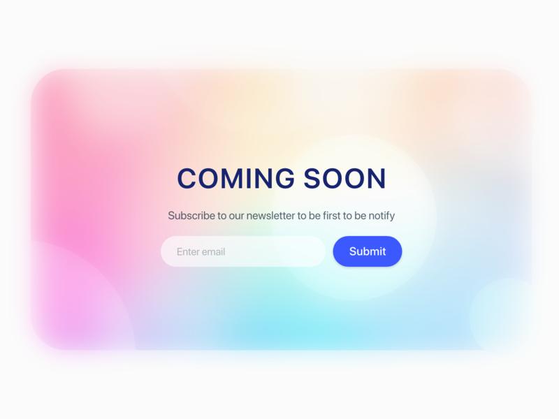 Daily UI Challenge : 048 Coming Soon comingsoon dailyui adobexd ui